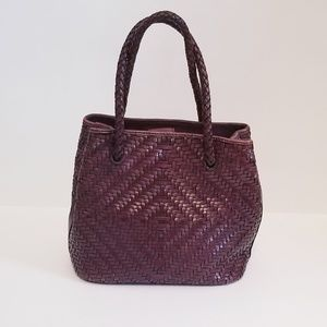 Fossil leather woven purse!
